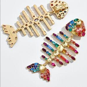 NWT Bauble Bar Rainbow Fish Drop Earrings